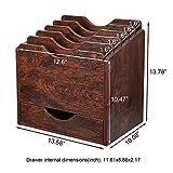 PAG Wood Desktop File Holder Organizer Mail Sorter