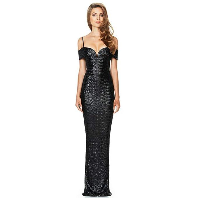 Amazon.com: DANTTAN - Vestido de noche para mujer con ...