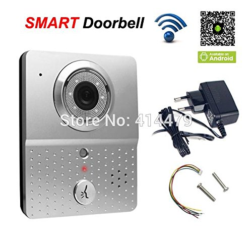 HITSAN 720p wireless wifi doorbell video doorphone intercom ip camera support recording take pictures by mobile 4g smart phone control