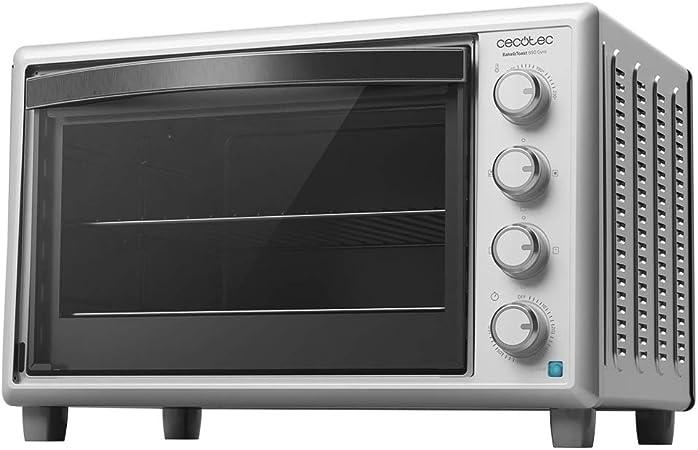 Cecotec Horno de sobremesa Bake&Toast 890 Gyro. 2200 W, Capacidad 60 litros, Cocina por convección, 12 Funciones, Incluye Rustidor Giratorio, Luz ...