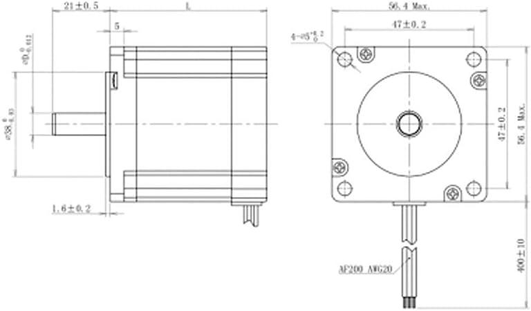 Bewinner Nema 23 Motor Paso a Paso,DC 24-80V 1.5 NM 1.2° Stepper Motor Trifásica para la Industria de Maquinaria CNC,Impresoras,Grabador y Instrumentos de Precisión,Grabador,Máquinas CNC: Amazon.es: Electrónica