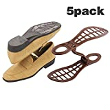 Adjustable Shoe Storage Space Rack Saver Organizer - 5 Pack Brown (Brown)
