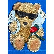 "First & Main, Inc - Elvis ""Presley"" Teddy Bear - Jean Jacket, Sunglasses & Rose"