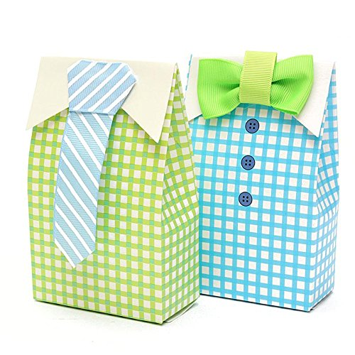 Saasiiyo 50 Pieces Lovely Gift Bag Bow-tie Design Party Favor Paper Sugar Chocolate Box Treat Bag Wedding Party Supplies Gift For vacationers - Costume Design Classes San Diego