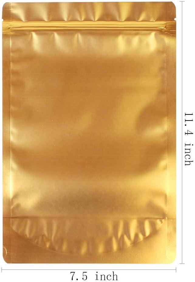 WRAPOK Sacchetti Zip Alimenti Richiudibili Lock Stand Up Di Alluminio In Di Grandi Dimensioni Riutilizzabile Blu Bag Per La Conservazione Degli 5,5 x 7,9 Pollici Confezione Da 25 8 Once