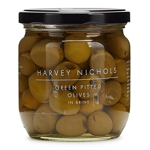 Harvey Nichols Green Pitted Olives In Brine - 410g (0.9lbs)