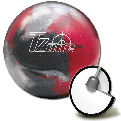 Brunswick T-Zone Scarlet Shadow Bowling Ball, Scarlet Shadow, 10 lb by Brunswick