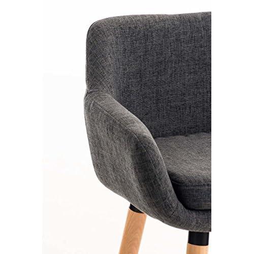 94eef8ebc04a37 CLP Tabouret de bar Grant en tissu, chaise de bar à 4 pieds, tabouret