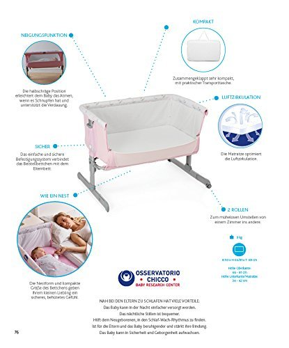 Chicco Next2me - Co-Sleeping Cot with Anchor to Bed Fuchsia: Amazon.co.uk: Baby