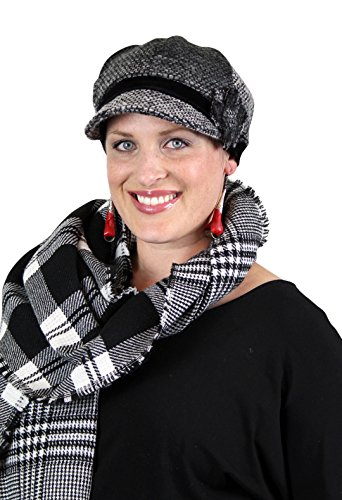 Spunky Tweed Chemo Newsboy Cap for Cancer Patients