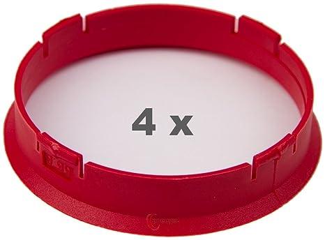 Kunststoff 66.6mm auf 65.1mm hellgr/ün 4 x Zentrierringe