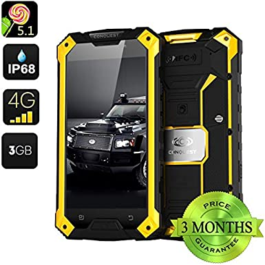 Conquest S6 Pro Rugged Smartphone (Amarillo): Amazon.es: Electrónica