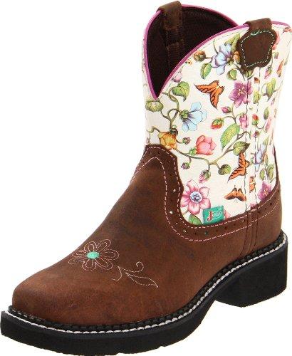 Justin Boots Gypsy Boot (Toddler/Little Kid/Big Kid),Flower Print/Black Walnut,3 D US Little Kid -