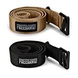 2Pack Riggers Belt, Survival Tactical Belt Emergency Fire Rescue Rigger Waist Belt Military CQB Belt for Concealed Carry EDC Holsters Pouches Hunting, Shooting and Tactical Activities