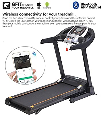 2.25HP Bluetooth Folding Treadmill Indoor Commercial Health Fitness Training Equipment US Stock