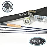Mystic Inception Complete Fly Fishing Combo 9′ 5 Weight – Rod Reel Line Backing and Trout Fly Assortment For Sale