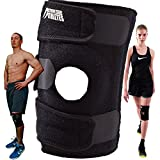 Active Knee Brace Support for Running, ACL Tear or Arthritis, One Size - Black