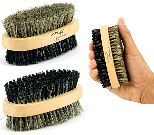 2 Sided Palm Brush - Natural Boar Bristle Hair Brush Best Used for Short or Long Hair
