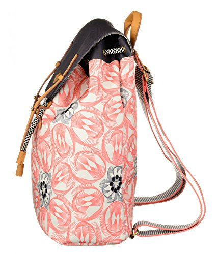 Oilily Flower Swirl Backpack Rosa Flamingo