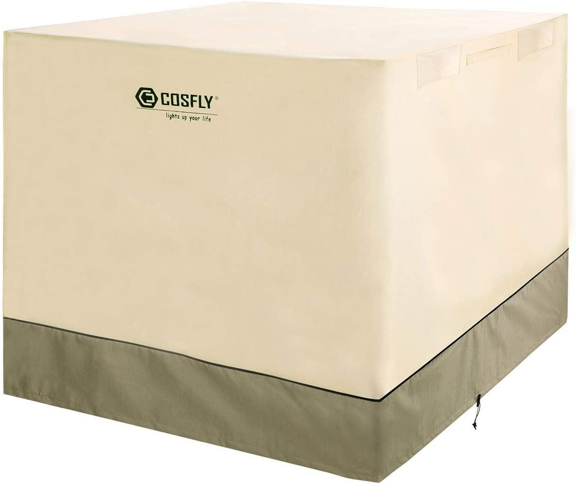 COSFLY Air Conditioner Cover for Outside Units-Durable AC Cover Water Resistant Fabric Windproof Design -Square Fits up to 32 x 32 x 36 inches