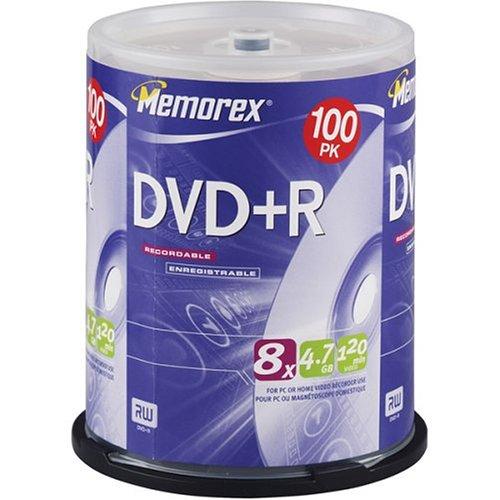 UPC 034707056510, Memorex 4.7GB 8x DVD+R (100-Pack Spindle)