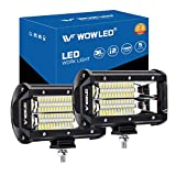 WOWLED LED Work Light Bars, 2x 5 Inch 36W 10800Lumens Two Rows Upgrade Off Road Lights Light Bar, IP67 Offroad Driving Lamp Bar for Car Truck UTE 4x4 12V 24V