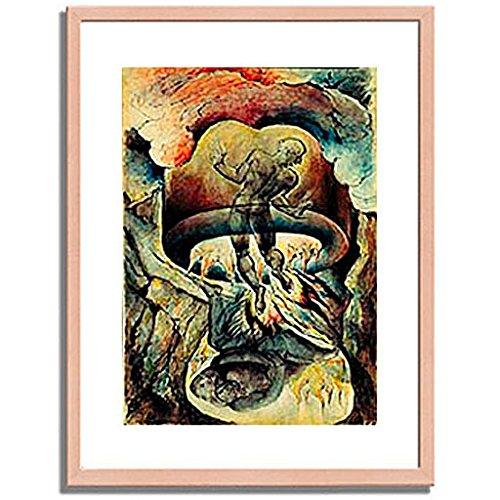ウィリアムブレイク「Gesang der Holle. Aus der Zeichenfolge zu Dantes gottlicher Komodie. 」 インテリア アート 絵画 プリント 額装作品 フレーム:木製(白木) サイズ:S (221mm X 272mm) B00N6ENUB8 1.S (221mm X 272mm)|2.フレーム:木製(白木) 2.フレーム:木製(白木) 1.S (221mm X 272mm)