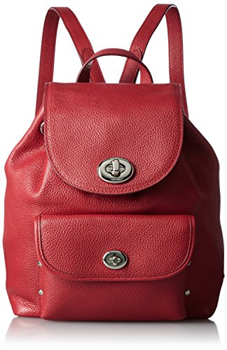 COACH Womens Turnlock Rucksack Backpack