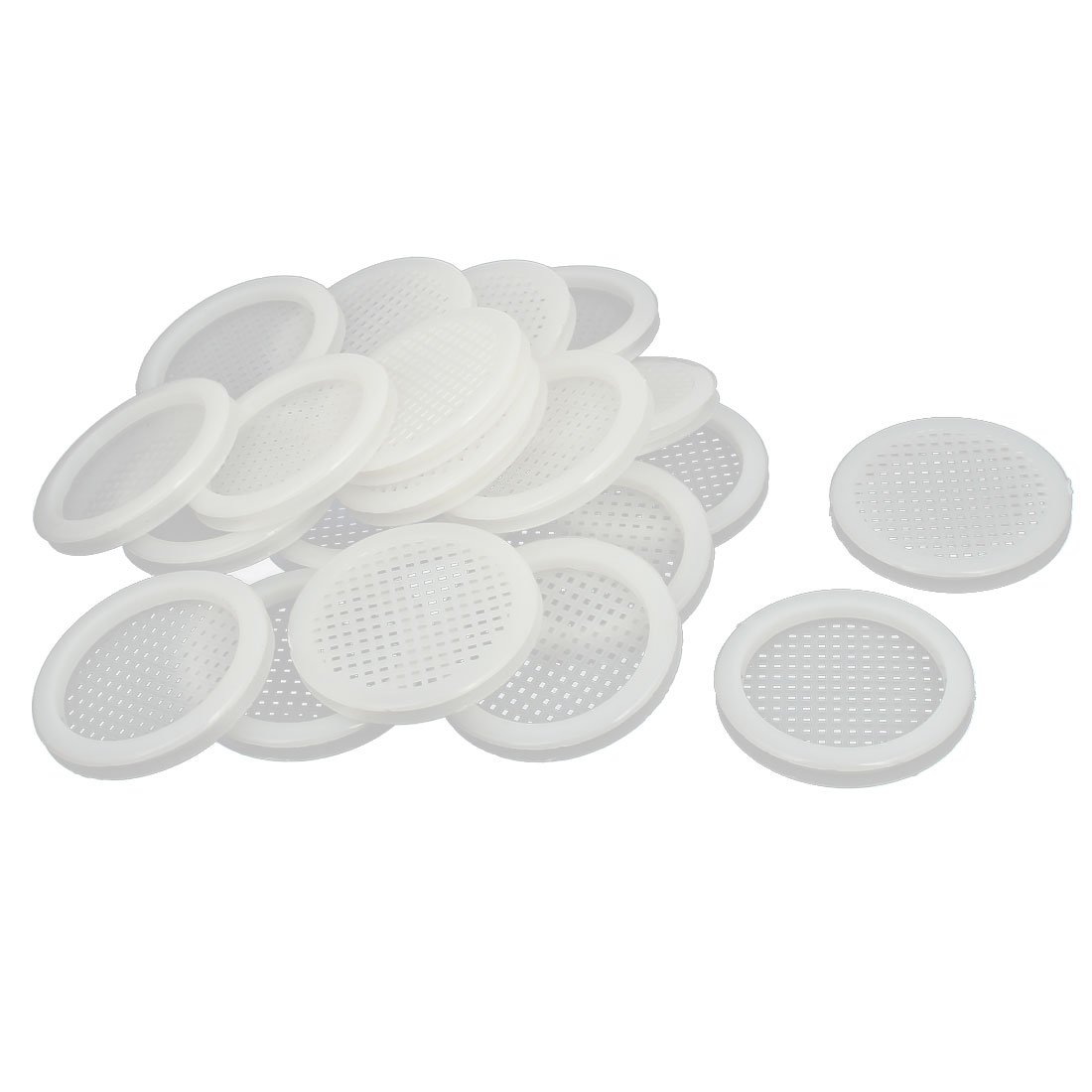 uxcell Shoes Cabinet 67mm Dia 5mm Plywood Thickness Plastic Air Vent Louver Cover 20pcs
