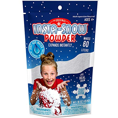 (Be Amazing Instant Snow Powder  - Bulk Class Party Pack - Great For Slime - Makes 8-10 Gallons of Artificial Fake Snow (454 Grams-1LB))