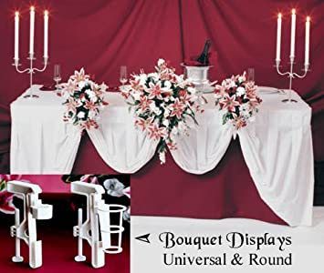 Amazon wedding bouquet display holder clamp for reception table wedding bouquet display holder clamp for reception table decorations junglespirit Image collections