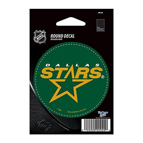 "UPC 032085662446, NHL Dallas Stars WCR66244013 Round Vinyl Decal, 3"" x 3"""