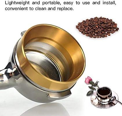 Accesorio de cafetera universal de repuesto de embudo de anillo de dosificaci/ón de caf/é de 58 mm aluminio Negro
