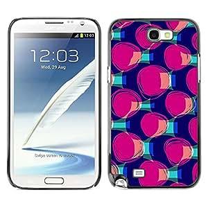 Be Good Phone Accessory // Dura Cáscara cubierta Protectora Caso Carcasa Funda de Protección para Samsung Note 2 N7100 // Purple Teal Pattern Fashion