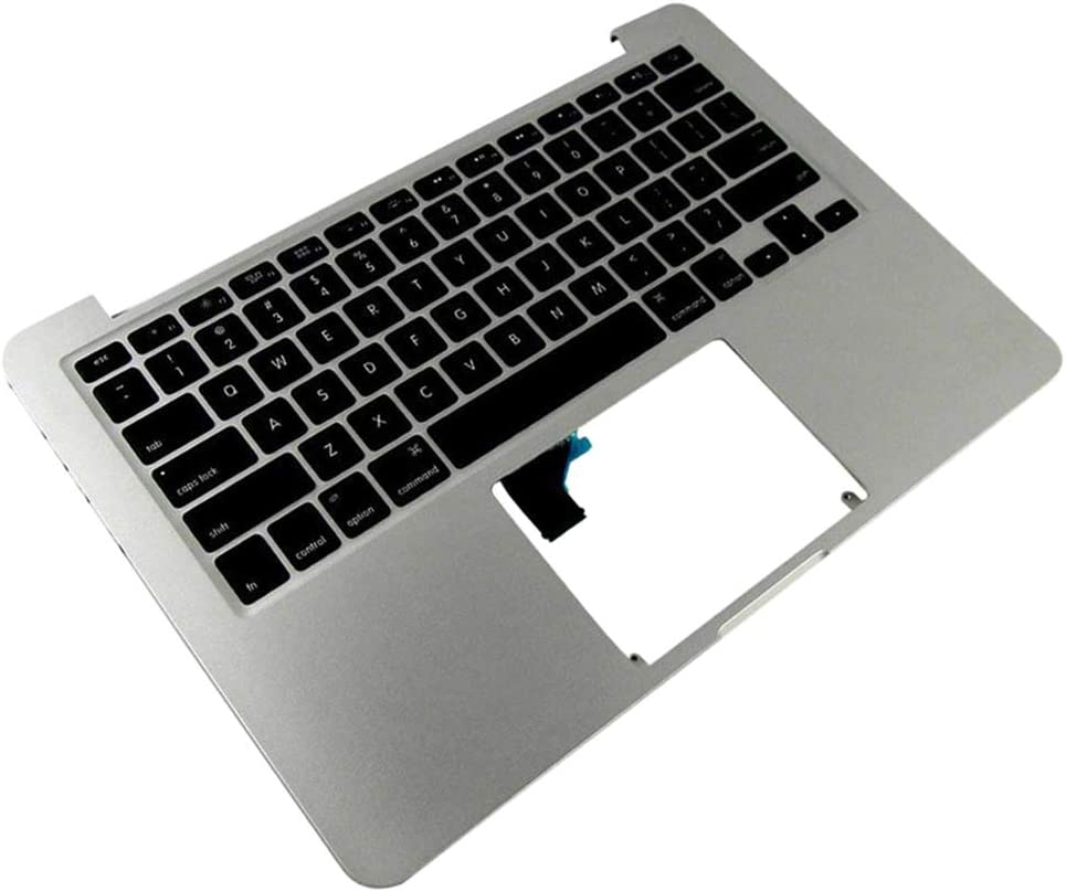 Almencla US Layout Replacement Palmrest Upper Cover Keyboard Bezel Assembly for MacBook Pro Retina A1502 2015