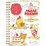 San-X Rilakkuma Strawberry Party design B6Sp Notebook White Ny12801