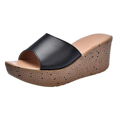 Zapatos Mujer Verano 2019 KanLin1986 Alpargatas de Cuña de Mujer Zapatos de Tacon Mujer Fiesta Flip Flops Slipper Sandalias Mujer Verano Plataforma: ...