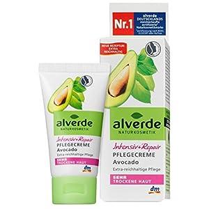 Alverde – Crème de soin Intensive + Repair – Peau très sèche – Avocat Bio – 50 ml
