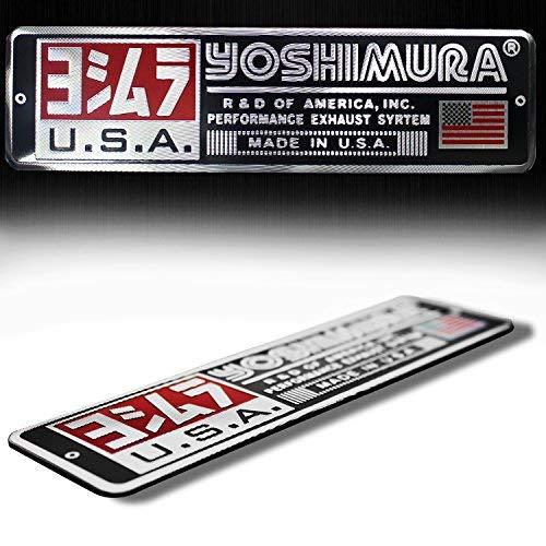 Logotipo de Metal 14cm 3d emblema calcomanía de Yoshimura de aluminio cepillado + Carta carenado Pegatina