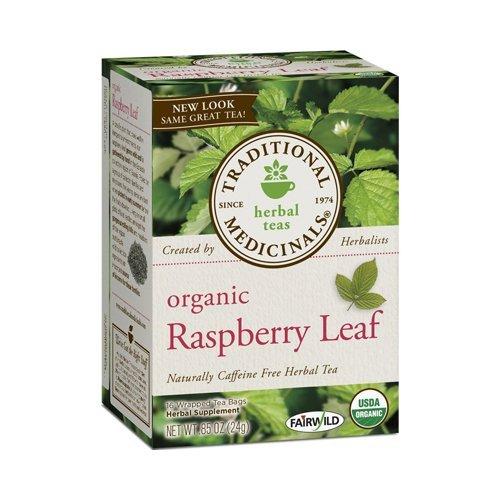Traditional Medicinals Raspberry Tea (Traditional Medicinals Organic Raspberry Leaf Herbal Tea - Caffeine Free - 16 Bags - 100% Organic - by Traditional Medicinals)