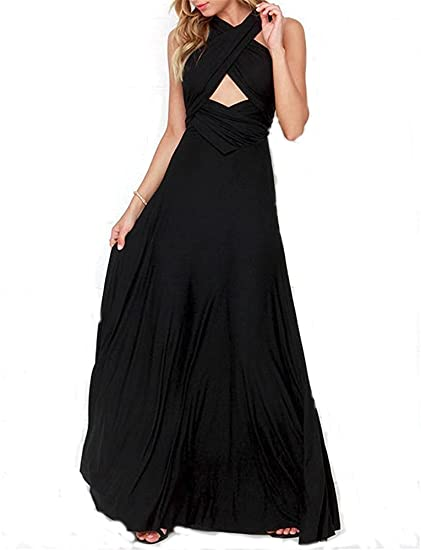 6fc2f29ea620 PARTY LADY Women s Sexy V Neck Long Maxi Chiffon Summer Plus Size Evening  Dress Size S