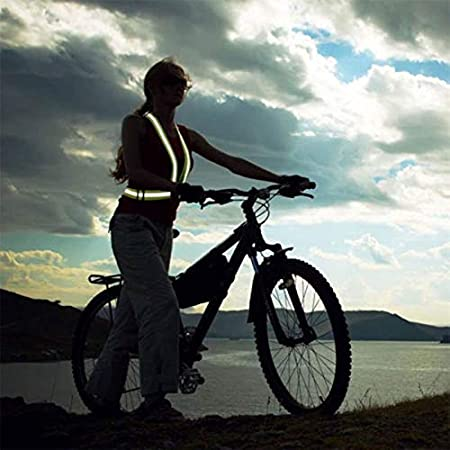 Marcher mototourisme ou Course /à Pied,R/éfl/échissant Gilet de s/écurit/é buzzfashion Visibilit/é l/éger et Haut r/églable pour Jogging en Plein air v/élo