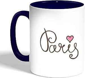 Paris Printed Coffee Mug, Blue Color