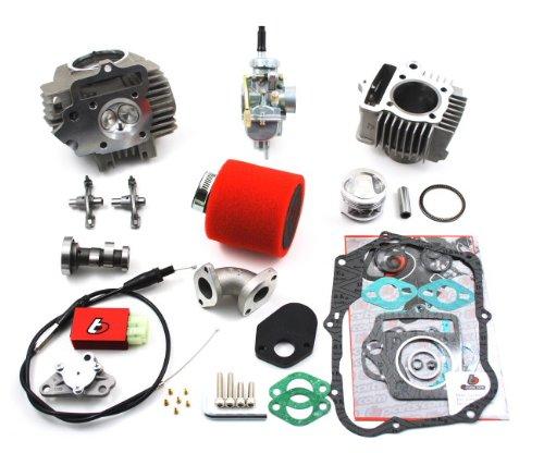 (Honda Z50 XR50 CRF50 Race Head, 88cc Big Bore kit, 20mm Carburetor)