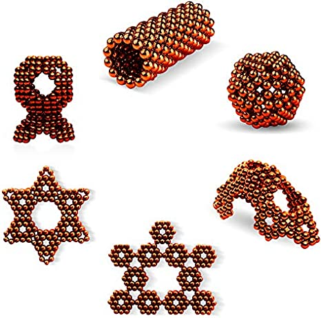 Sky Magnets 5 mm Magnetic Balls Cube Fidget Gadget Toys Rare Earth Magnet Office Desk Toy Games Magnet Toys Multicolor Beads Stress Relief Toys for Adults Black