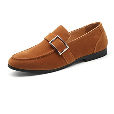 NXY De los Hombres Ante Centavo Mocasines Clásico Ponerse Hebilla Casual Conducción Zapatos del Barco Minimalismo Zapatillas Mocasin: Amazon.es: Zapatos y ...
