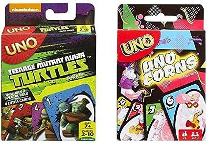 Amazon.com: Teenage Mutant Ninja Turtles Uno y Unocorns Uno ...