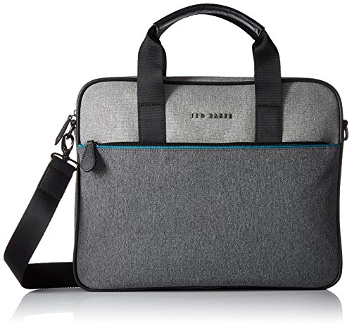 Ted Baker Men's Maka Core Nylon Document Bag` , Grey by Ted Baker