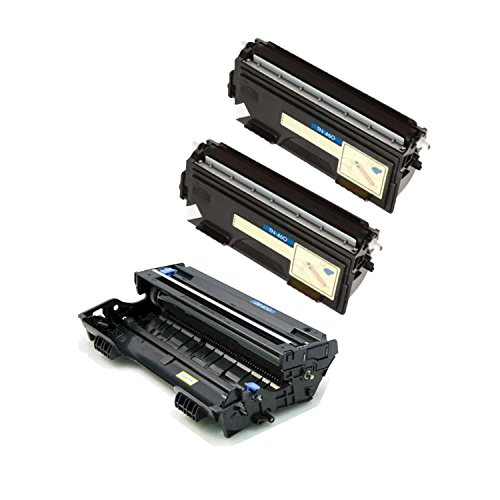 Brother DR-400 2 x TN-460 (DR400 TN460) Compatible Toner & Drum Cartridge - Toner 6,000 Drum 20,000 Page Yield At 5% Page Coverage - For Use With Brother DCP-1200, 1400-3Pack (Dr400 Compatible Drum)