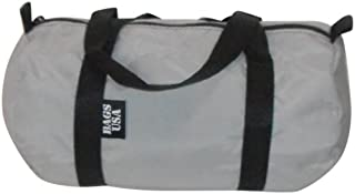 product image for Duffle Bag Small Nylon Perfect for Work, Camping,Beach Water Resistant U S Made (Silver)